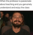 When The Professor Is Passionate About...