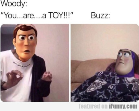 Woody - You Are A Toy... Buzz