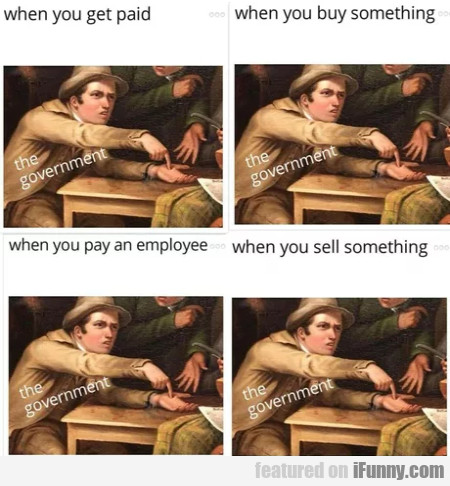 When you get paid - When you buy something