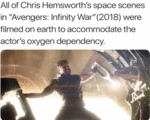 All Of Chris Hemsworth's Space Scenes In...