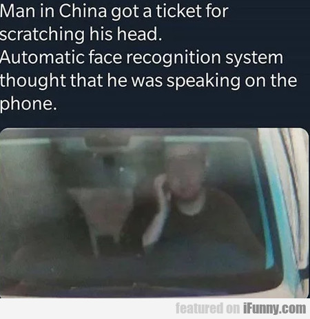 Man In China Got A Ticket For Scratching His Head