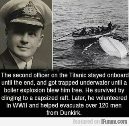 The Second Officer On The Titanic Stayed