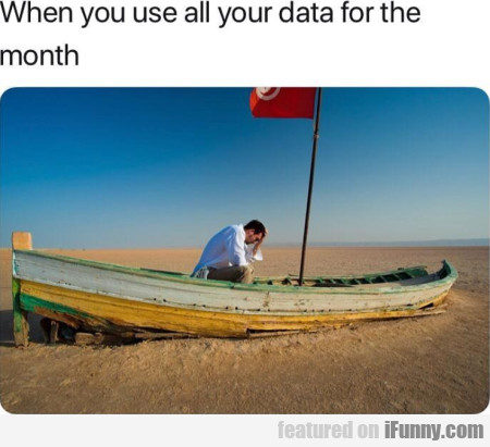When you use all your data for the month