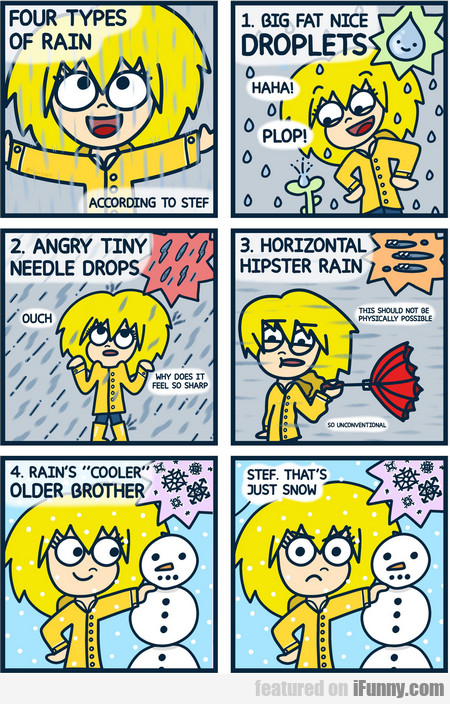 Four Types Of Rain - According To Stef