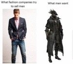 What Fashion Companies Try To Sell Men