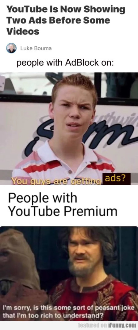Youtube is now showing two ads before some videos