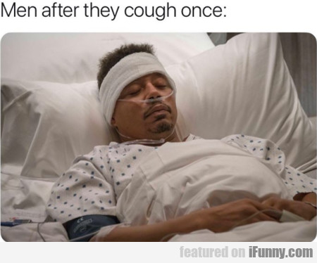 Men after they cough once