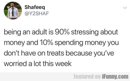 Being An Adult Is 90% Stressing About Money