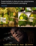Supermarkets In Asia Are Now Using Banana Leaves