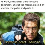 At Work, A Customer Tried To Copy A Document...