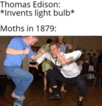 Thomas Edison - Invents Light Bulb - Moths In 1879