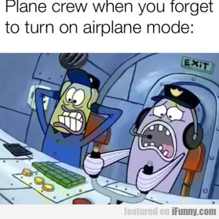 Plane Crew When You Forgot To Turn On Airplane