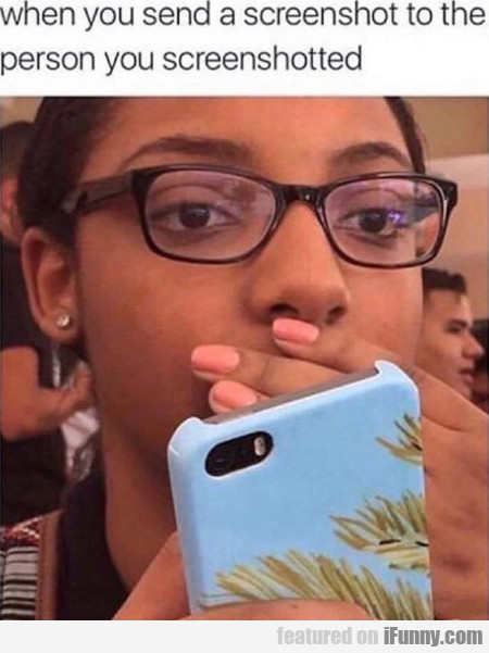 When you send a screenshot to the person