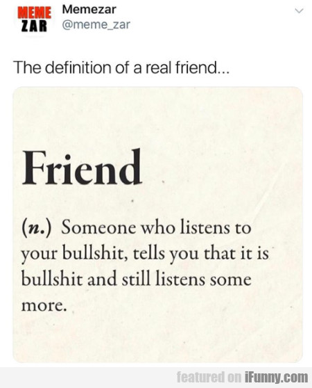 The Definition Of A Real Friend