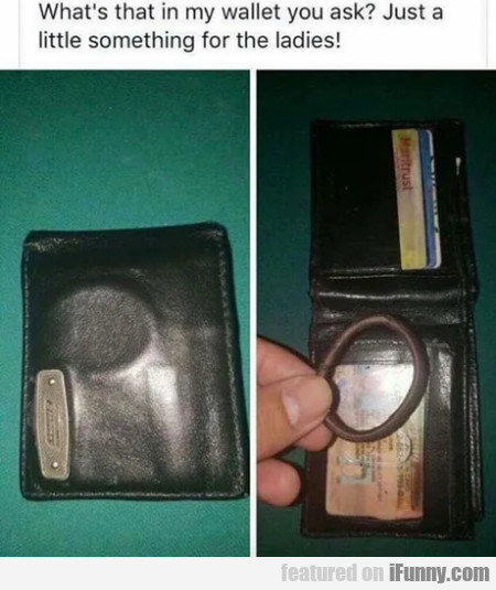 What's In My Wallet You Ask - Just A Little...