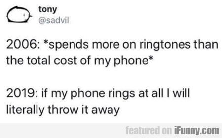2006 Spends More On Ringtones Than The Total Cost