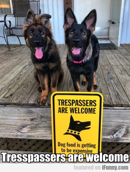 Tresspassers are welcome