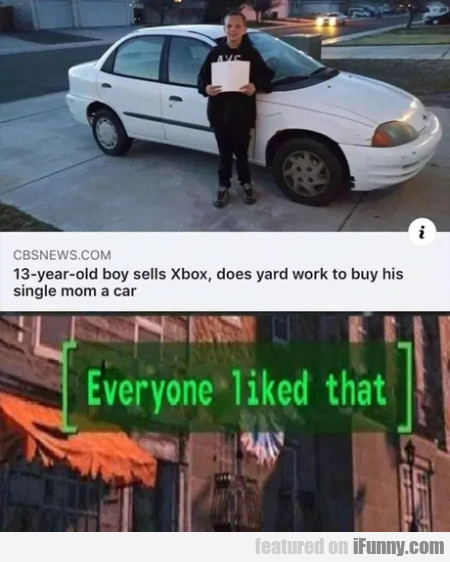 13 Year Old Boy Sells Xbox, Does Yard Work