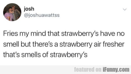 Fries My Mind That Strawberry's Have No Smell