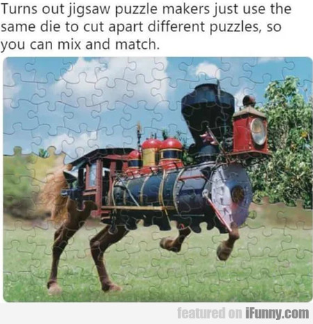 Turns Out Jigsaw Puzzle Makers Just Use The...