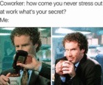 Coworker - How Come You Never Stress Out At Work