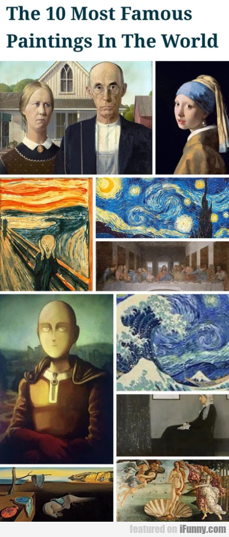 The 10 most famous paintings in the world