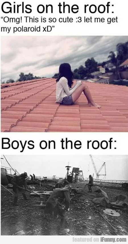 Girls On The Roof - Omg! This Is So Cute