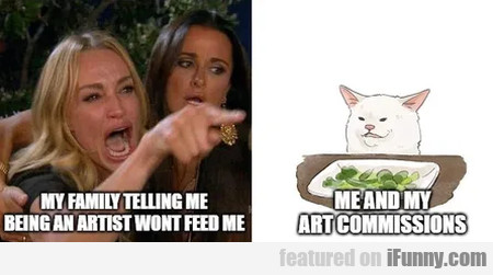 My Familiy Telling Me Being An Artist Wont Feed Me