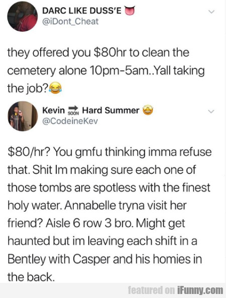 They Offered You $80hr To Clean Cemetery Alone