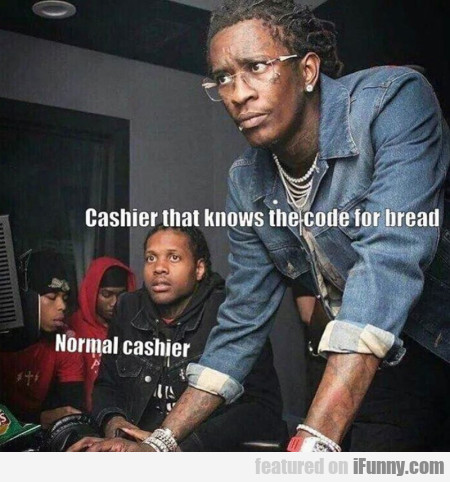 Cashier That Knows The Code For Bread - Normal...