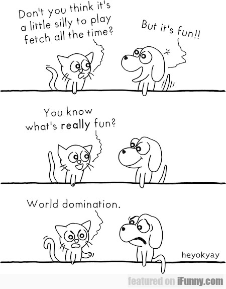 Don't You Think It's A Little Silly To Play Fetch