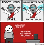 Robot Jesus Saves Your Prayer Data To The Cloud...