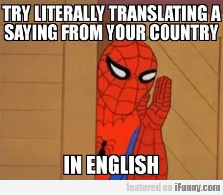 Try Literally Translating A Saying From Your...