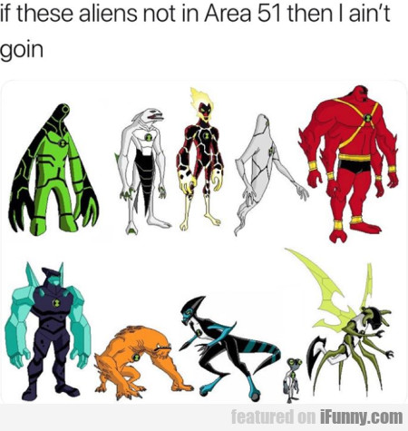 If These Aliens Not In Area 51 Then I Ain't Goin..