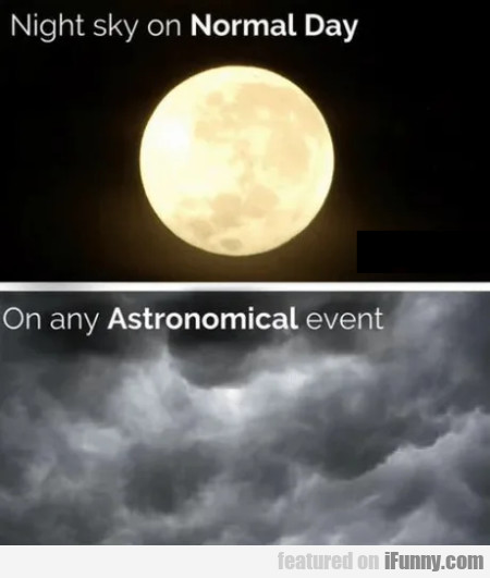 Night Sky On Normal Day - On Any Astronomical...