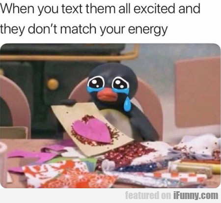 When You Text Them All Excited And They Don't...