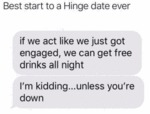 Best Start To A Hinge Date Ever