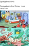 Spongebob Now - Spongebob After Disney Buys...