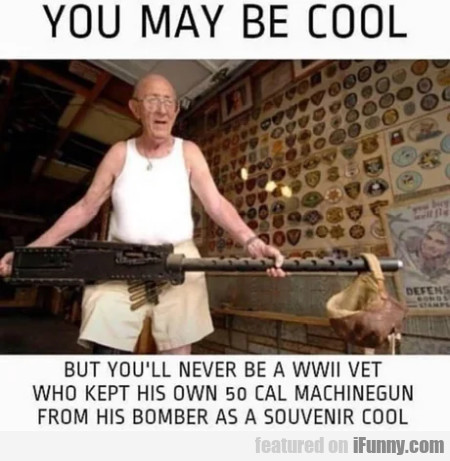 You May Be Cool - But You'll Never Be A Wwii Vet