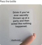 Pass The Bottle - Drink If You've Ever Secretly