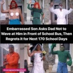 Embarassed Son Asks Dad Not To Wave At Him
