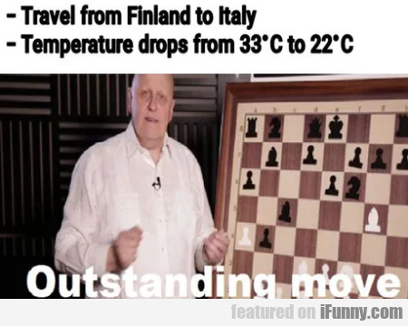 Travel from Finland to Italy - Temperature drops