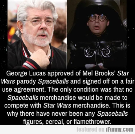 George Lucas approved of Mel Brooks' Star Wars