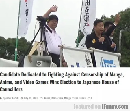 Candidate dedicated to fighting against censorship