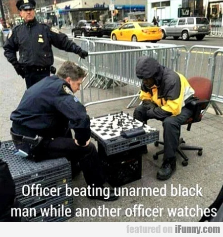 Office Beating Unarmed Black Man While...