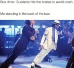 Bus Driver - Suddenly Hits The Brakes To Avoid...