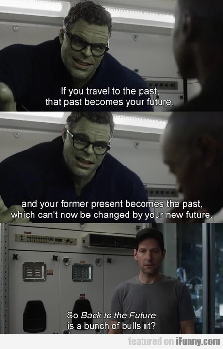 If you travel to the past that past becomes your