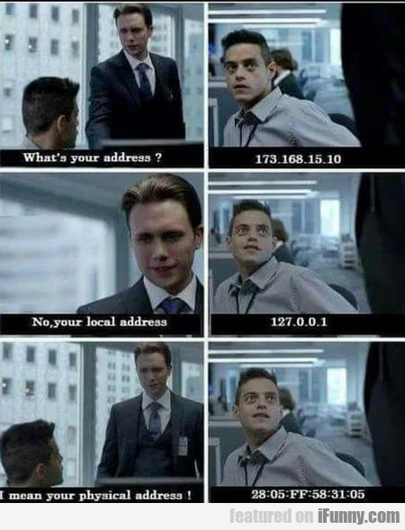 What's your address - 173.168.15.10