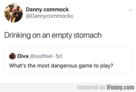 Drinking on an empty stomach