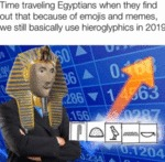Time Traveling Egyptians When They Find Out That